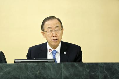 Il Segretario Generale delle Nazioni Unite Ban Ki-moon (foto Onu: Paulo Filgueiras)