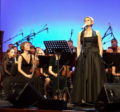 Tosca durante il concerto del Premio Braille (25 luglio 2013 a Roma)