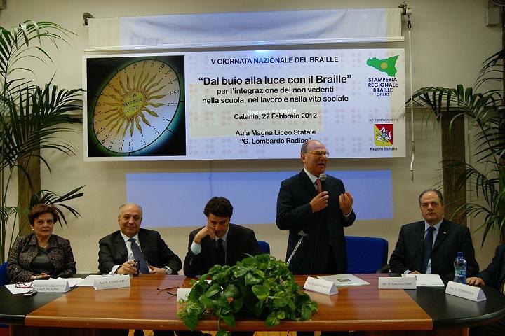 Dal buio alla luce con il Braille, Catania, 27 febbraio 2012 (oratore avv. Giuseppe Castronovo)