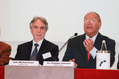 Da sinistra il Vicepresidente della IAPB Italia onlus Michele Corcio e il Presidente Giuseppe Castronovo
