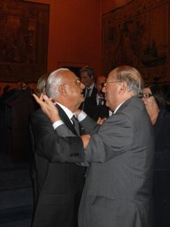 Da sinistra il Presidente UICI Tommaso Daniele e l'avv. Giuseppe Castronovo, Presidente della IAPB Italia onlus