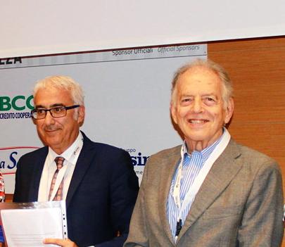 Da sinistra il Prof. Leonardo Mastropasqua e il prof. Alfredo Reibaldi