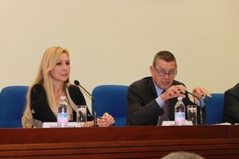 Da destra il Ministro Ferruccio Fazio e il Sottosegretario Martini (Roma, 6 ottobre 2010, Ministero della Salute di via Lungotevere)