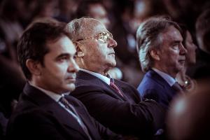 Da sinistra T. Melcchiorre, G. Castronovo e M. Corcio (IAPB Italia onlus) a Firenze il 12 ottobre 2012