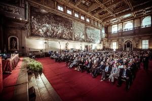 Inaugurazione del Festival delle Generazione nel Salone dei Cinquecento a Firenze