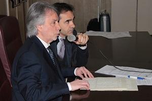 Da sinistra il Vicepresidente della IAPB Italia onlus Michele Corcio e il Segretario generale Tiziano Melchiorre
