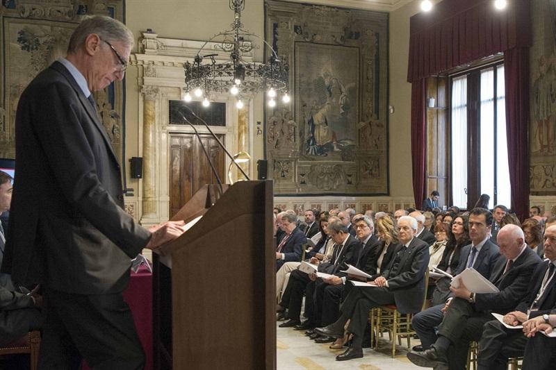 Presentazione del rapporto Istat 2016 a Palazzo Montecitorio (Foto Quirinale: il Presidente dell'Istat Giorgio Alleva)