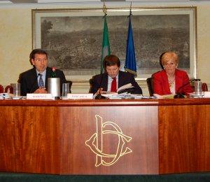 Sen. Ignazio Marino (a sinistra) e l'On. Livia Turco (a destra)