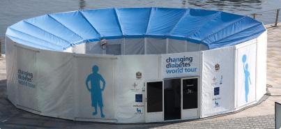 Tensostruttura del Changing Diabetes® Blue Circle: il 14 novembre a Milano davanti al Museo della Scienza