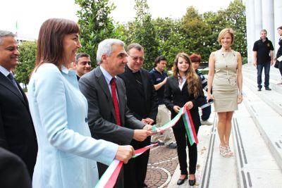Inaugurazione del Sanit col Ministro della Salute Renato Balduzzi e la Governatrice del Lazio Renata Polverini