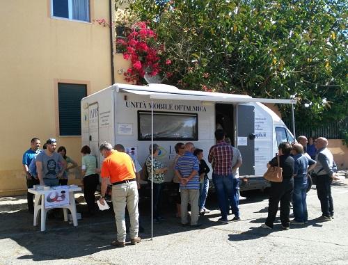 Unità mobile oftalmica della IAPB Italia onlus (foto: cortesia del Consiglio regionale UICI Sardegna)