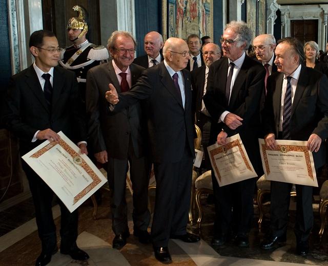 Il Premio Balzan per la biologia è stato conferito dal Presidente della Repubblica Giorgio Napolitano al ricercatore giapponese Shinya Yamanaka (Foto: Quirinale.it)