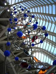 Modello elicoidale di Dna (in struttura architettonica)