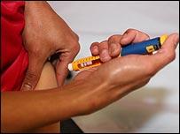 Iniezione di insulina