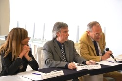 Da destra: prof. F. Cruciani, dott. M. Corcio e dott.ssa Stefania Fortini