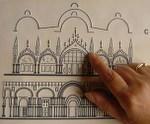 Cartolina tattile della basilica di San Marco (Venezia)