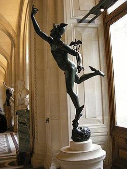 Una copia del Mercurio del Giambologna è esposta al Museo Omero di Ancona