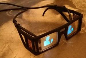 Occhiali intelligenti (Foto di Stephen Hicks, Università di Oxford)