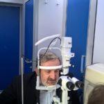 Il Presidente della Regione Puglia Michele Emiliano si sottopone a un check-up oculistico