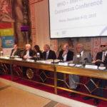 Relatori presso il Senato (Sala Zuccari di Palazzo Giustiniani), che hanno aperto il lavori della prima conferenza internazionale OMS sulla riabilitazione visiva
