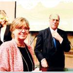 La Vicepresidente del Senato Linda Lanzillotta col Presidente della IAPB Italia onlus Giuseppe Castronovo