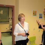 Da sinistra Lucy Walker (Direttore generale Macular Disease Foundation Australia),Julie Heraghty (Direttore esecutivo Macular Disease Foundation) e Filippo Amore (medico dirigente del Polo Nazionale per la Riabilitazione Visiva) (Gemelli,9 settembre 2014)