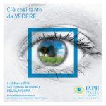 Locandina Settimana mondiale glaucoma 2016