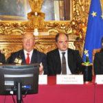 Da destra Sabrina De Camillis (Ministero Salute), Giuseppe Castiglione (Sottosegretario), Giuseppe Castronovo (IAPB Italia onlus) e Nicoletta Carbone (Radio 24), presso la Camera dei Deputati (Sala Aldo Moro) per la Giornata mondiale della vista