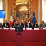 Relatori nella Sala Aldo Moro, Camera dei Deputati, 9 ottobre 2014 per la Giornata mondiale della vista