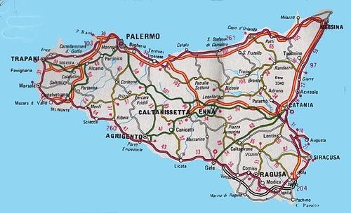 Sicilia cartina