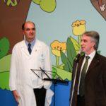 Da sinistra il Prof. Eugenio Mercuri (A. Gemelli) e il dott. Michele Corcio (IAPB Italia onlus)