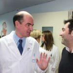 Da destra Max Giusti e il Prof. E. Mercuri (Policlinico A. Gemelli)