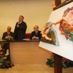 Inaugurazione della Creazione di Adamo (riproduzione di un particolare della Cappella Sistina di Michelangelo), Polo Tattile Multimediale, Catania, 20 febbraio 2010