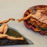 Creazione di Adamo in rilievo (riproduzione di un particolare della Cappella Sistina di Michelangelo), presso il Polo Tattile Multimediale di Catania