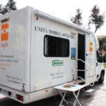 Unità mobile oftalmica della IAPB Italia onlus per controlli oculistici gratuiti (Piazza Re di Roma, 14 marzo 2013)