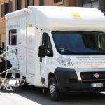 Unità mobile oftalmica della IAPB Italia onlus in cui si svolgono i controlli oculistici gratuiti