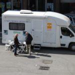 Unità mobile oftalmica in cui si svolgono i check-up oculistici gratuiti (Roma, 7 marzo 2011)