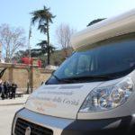 Unità mobile oftalmica della IAPB Italia onlus per i controlli oculistici gratuiti comprensivi di misurazione della pressione oculare (Roma, 7 marzo 2011)