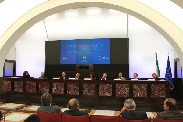 Sala Polifunzionale della Presidenza del Consiglio dei Ministri (relatori), conferenza stampa del 14 ottobre 2010