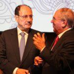 Il Presidente del Senato Renato Schifani (a sinistra) e il Presidente della IAPB Italia onlus Giuseppe Castronovo
