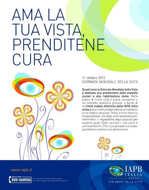 Locandina Giornata mondiale della vista 2012