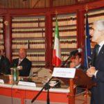 On. Pier Ferdinando Casini durante il suo intervento sulla prevenzione della cecità in occasione della Giornata mondiale della vista (11 ottobre 2012, Palazzo San Macuto, Camera dei Deputati)