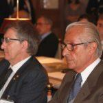 Palazzo San Macuto, Camera dei Deputati: conferenza sulla Giornata mondiale della vista (11 ottobre 2012): da destra il Prof. Mario Stirpe (Presidente della Commissione Nazionale per la Prevenzione della Cecità) e il dott. Matteo Piovella (Presidente SOI)