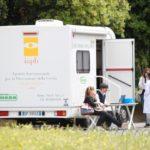Unità mobile oftalmica della IAPB Italia onlus (lo studio è effettuato in collaborazione con l'Oms e il Cnr) in sosta a Latina nei mesi di maggio e giugno 2013