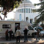 Unità mobile oftalmica della IAPB Italia onlus (controllo retinico gratuito a bordo, Roma, 3 novembre 2014)