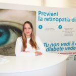 Stand della IAPB Italia onlus in una tensostruttura per informare sul diabete (Roma, p.za S. Silvestro, 29 maggio 2013)