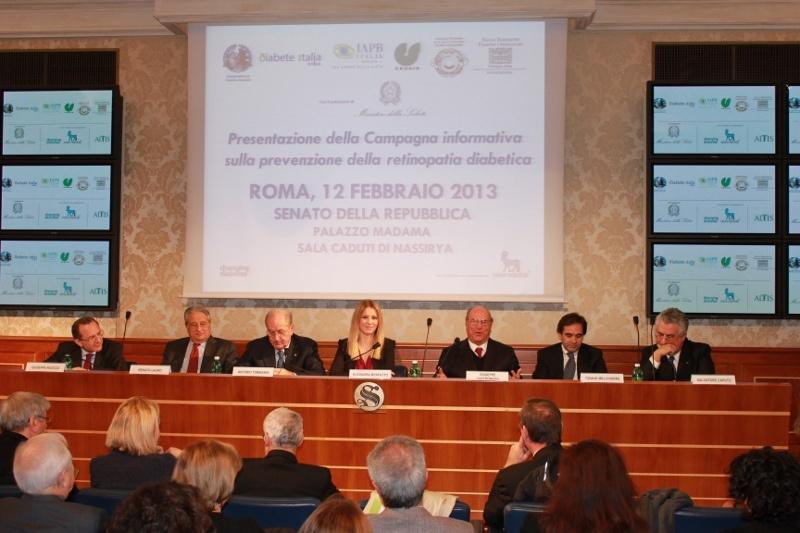 Sala Caduti di Nassirya a Palazzo Madama: convegno sulla retinopatia diabetica (12 febbraio 2013)