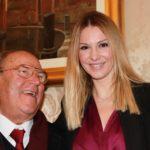 Avv. Giuseppe Castronovo (Presidente della IAPB Italia onlus) e Eleonora Benfatto (moderatrice del convegno sulla retinopatia diabetica a Palazzo Madama, Roma, 13 febbraio 2013)