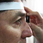 Check-up oculistico a bordo della Unità mobile oftalmica della Agenzia internazionale per la prevenzione della cecità-IAPB Italia onlus