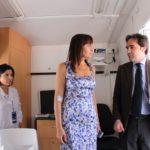Il governatore del Lazio Renata Polverini visita la Unità mobile oftalmica della IAPB Italia onlus assieme al segretario generale IAPB Tiziano Melchiorre e alla oculista